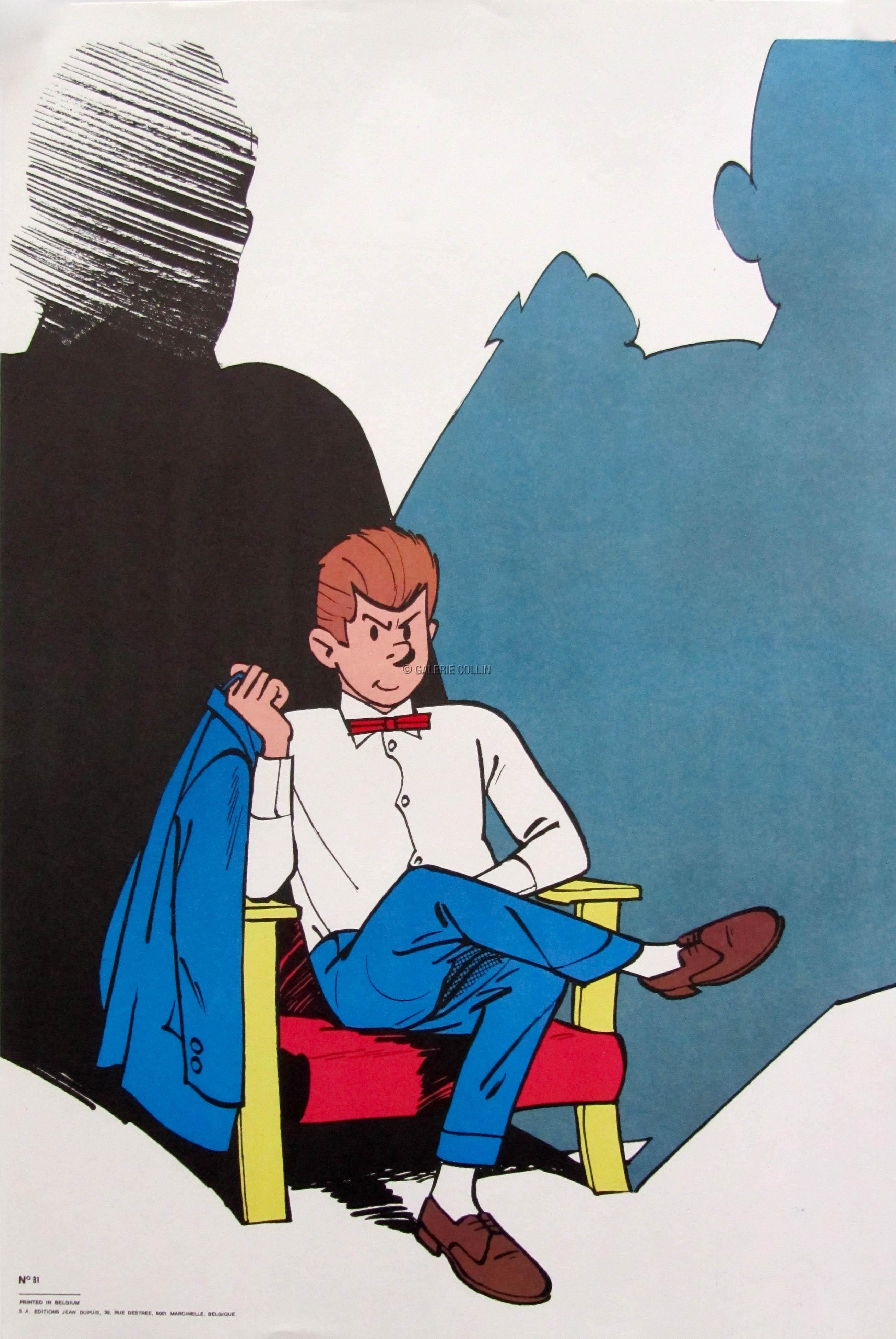 Tillieux Affiche Gil Jourdan Dans Son Fauteuil