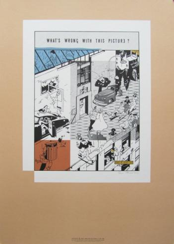 "EVER MEULEN . Sérigraphie Signée ""What's Wrong with this Picture"""