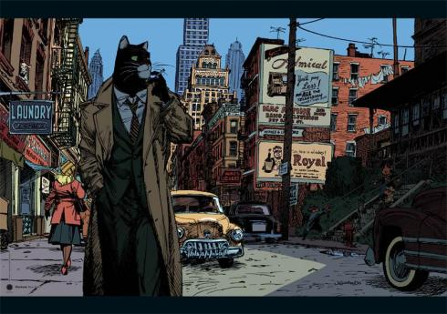 "GUARNIDO . Affiche édition d 'art - BLACKSAD ""New York, dans la Rue"""