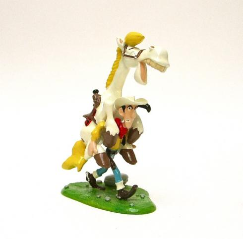 "MORRIS . PIXI Figurine - ""Lucky Luke portant Jolly Jumper"""