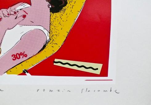 "Slocombe . Sérigraphie""Kiss and cry no more"" E.A signée"
