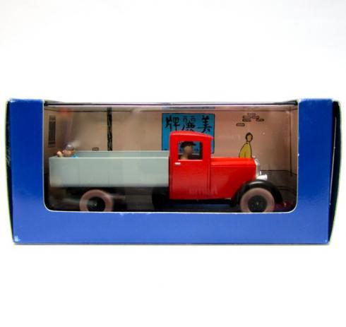 herg en voiture tintin le camion rouge du lotus bleu. Black Bedroom Furniture Sets. Home Design Ideas