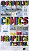 "Chris Ware affiche .Rare affiche d'expo ""Brooklyn comics"""