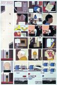 "Chris Ware affiche .Rare affiche ""Jimmy Corrigan"""