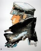 "CORTO . AFFICHETTE - 24x18 cm  "" Dedicated to Corto Maltese"""