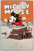 "DISNEY. Sérigraphie "" Mickey Mouse in Barnyard Olympics"""