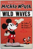 "DISNEY. Sérigraphie "" Mickey Mouse in Wild Waves"""
