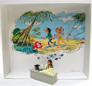 "FRANQUIN . Pixi figurine ""Gaston à son bureau""(1ère version)"