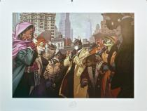 "Guarnido • Blacksad ""Ten Faces"" Affiche"