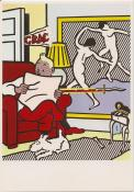 "LICHTENSTEIN . Carte Postale ""Tintin reading"""