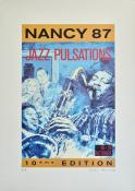 "Slocombe . Affiche édition d'art ""Jazz pulsations Nancy"" E.A signée"
